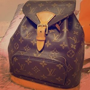 LV Monogram Montsouris MM Backpack